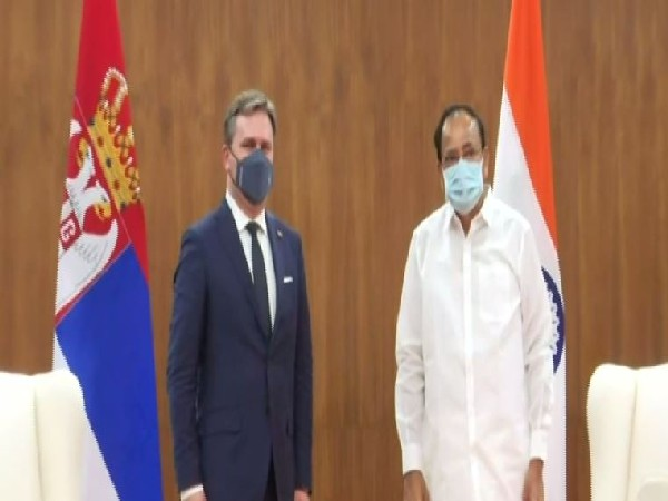 Serbian Foreign Minister calls on Vice President Naidu during India visit