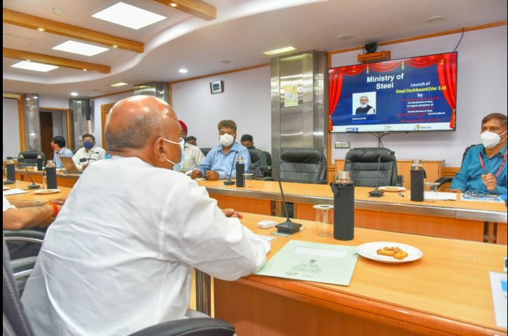 Union Steel Minister launches Dashboard 2.0 developed by NICSI