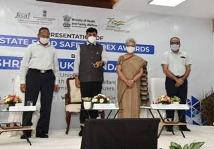 Mansukh Mandaviya releases FSSAI's 3rd State Food Safety Index