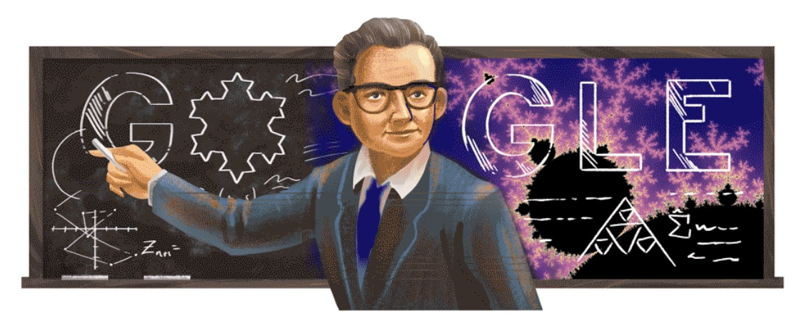 Benoit Mandelbrot's 96th birthday, Google doodle on father of fractal geometry