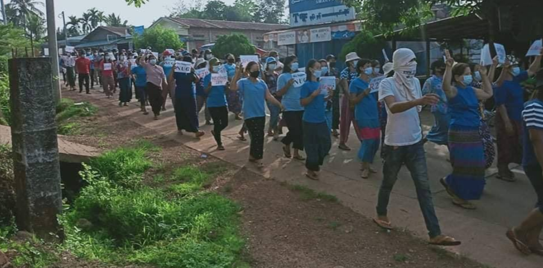 Myanmar activists hold 'blue shirt' protests; report says junta chief to attend summit