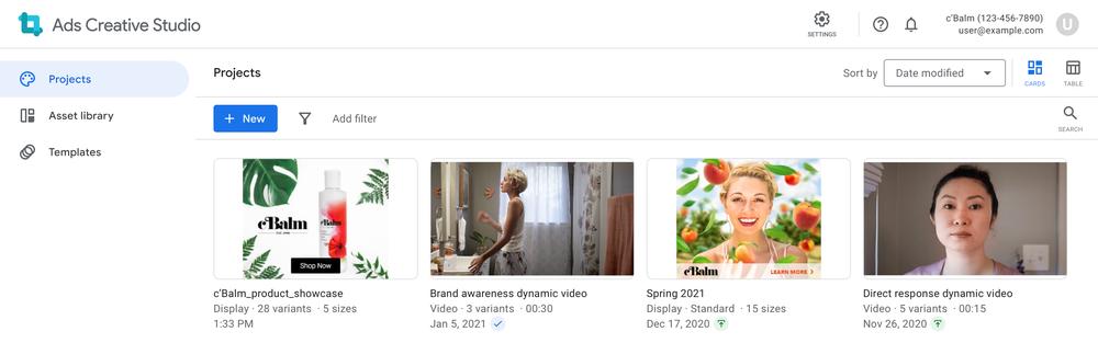 Google Ads Creative Studio brings together multiple creative tools