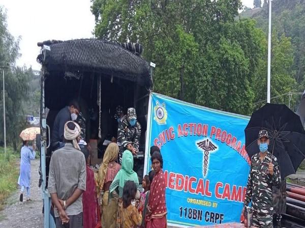 CRPF organises medical camp in J-K's Ganderbal for people facing breathing problems