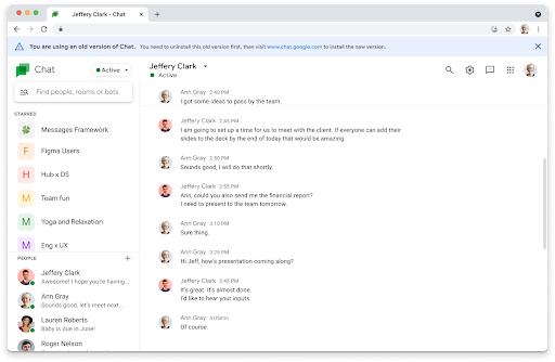 Google's older Chat PWA version won't be available from September 27