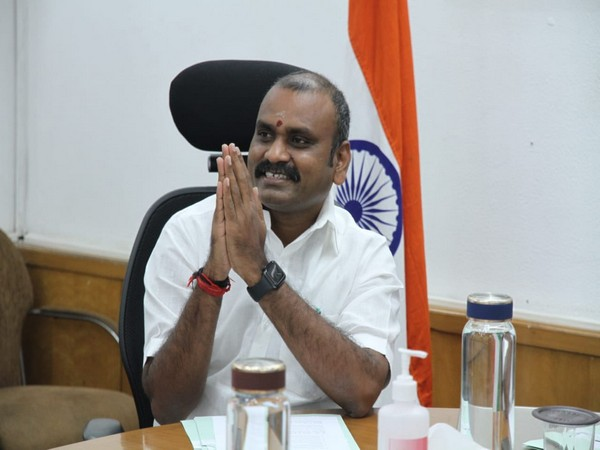 Union Minister L Murugan files nomination for Madhya Pradesh Rajya Sabha bypoll