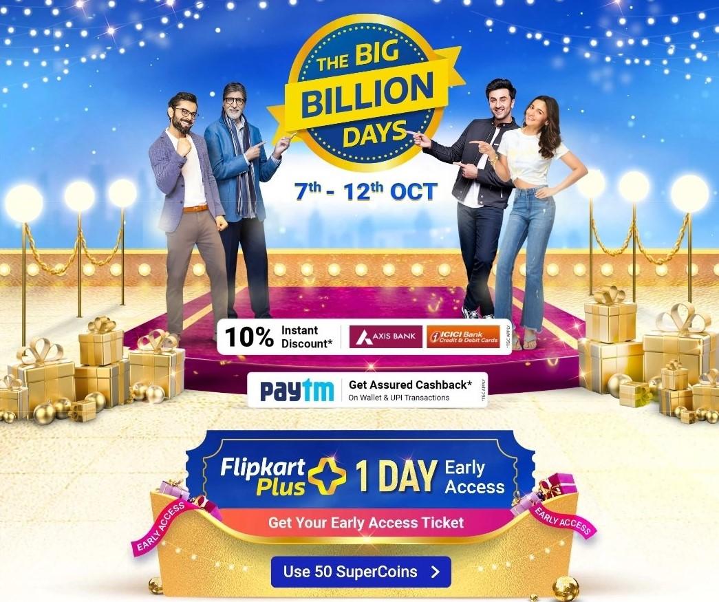 Flipkart Big Billion Days sale to begin on October 7: Offers and discounts