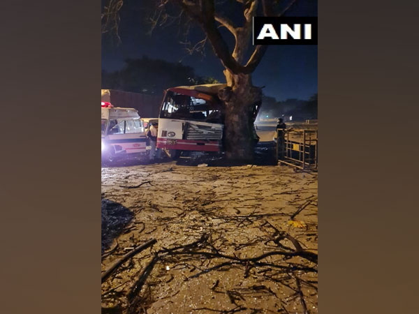 Delhi: 12 injured as bus crashes into tree in New Friends Colony