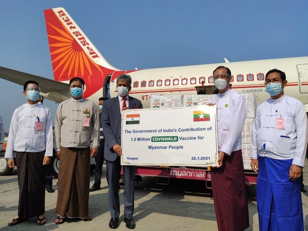 Myanmar receives first consignment of India's Covishield vaccines