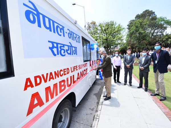 India gifts 39 ambulances, 6 school buses to Nepal