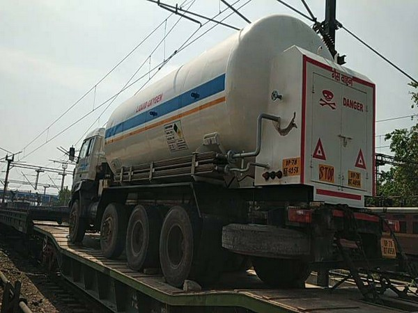 Oxygen Express leaves for Maharashtra from RINL plant