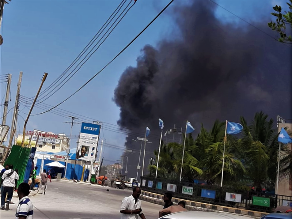 Mogadishu explosion: Suspected car bomb blast, heavy gunfire in Somalia's capital