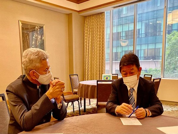 New York: Jaishankar, Japanese Foreign Minister discusses developments in Afghanistan, Indo-Pacific