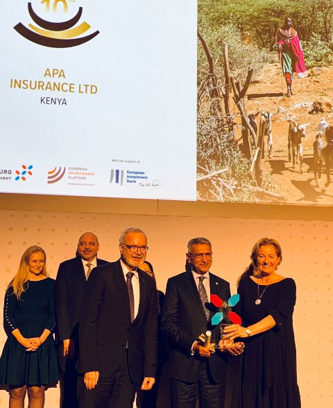 10th European Microfinance Award presented to APA Insurance
