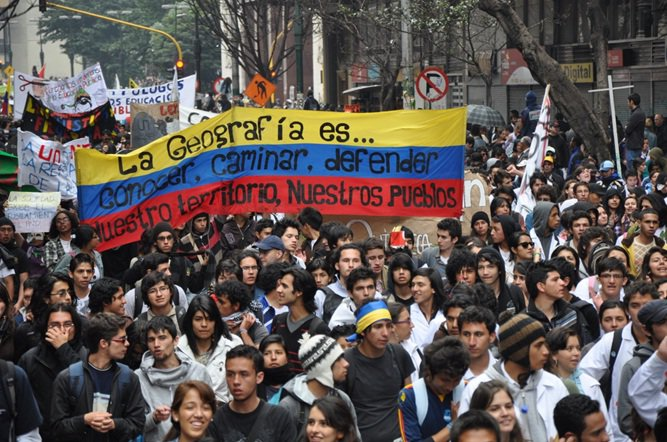 Indigenous Colombians march to Bogota, demand meeting with president