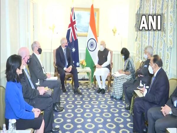 PM Modi meets his Australian counterpart Scott Morrison ahead of Quad Leaders' Summit