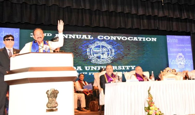 VP Naidu exhorts universities to again strive to make India knowledge hub