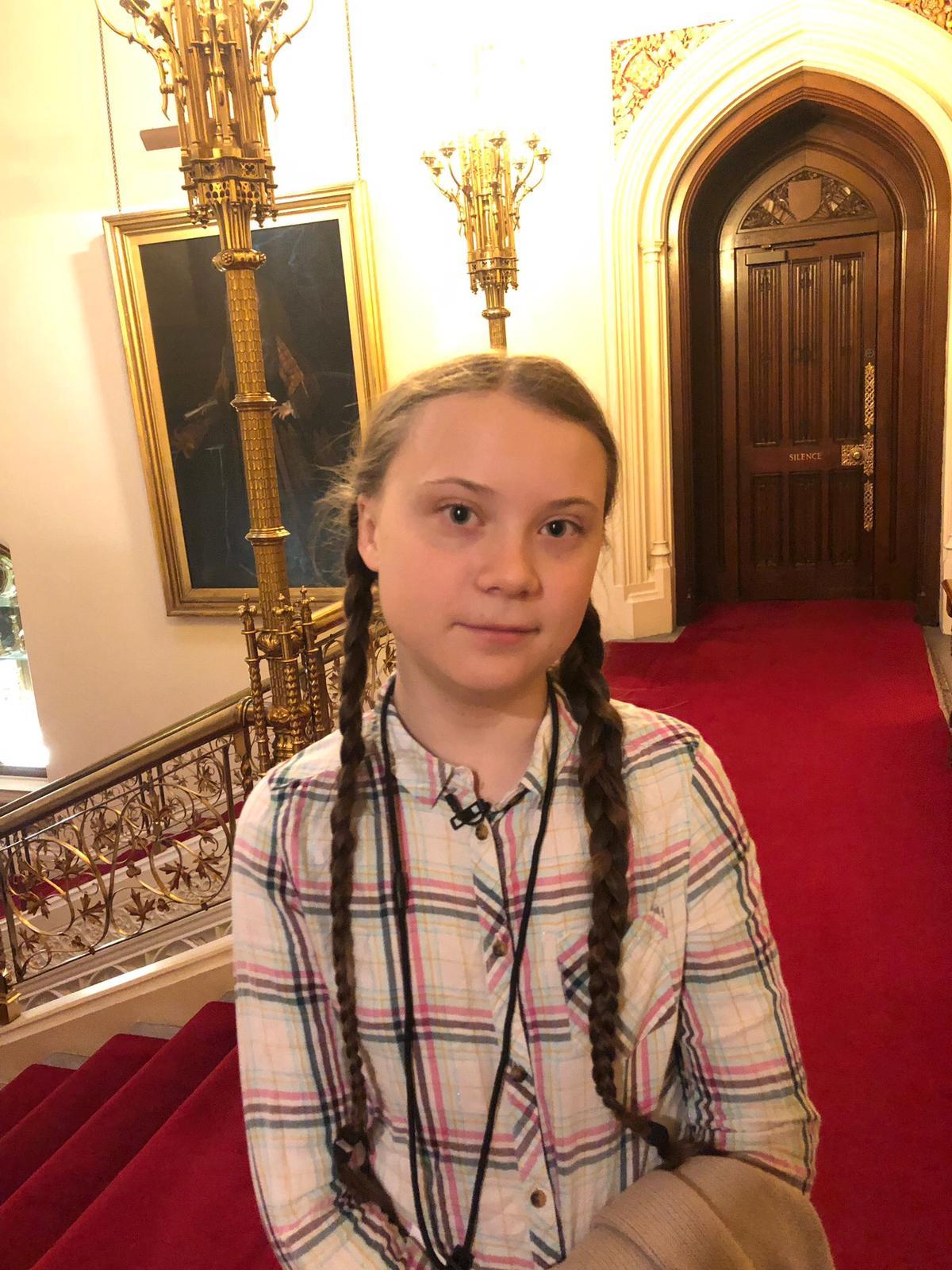 Teenage activist Greta Thunberg takes climate protest to Trump