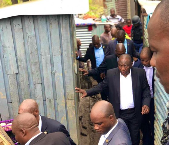 Relief funds announced by President while assessing damage caused by floods