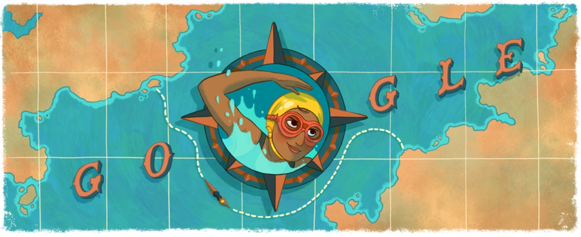 Arati Saha – Google doodle on first Asian woman to swim across English Channel