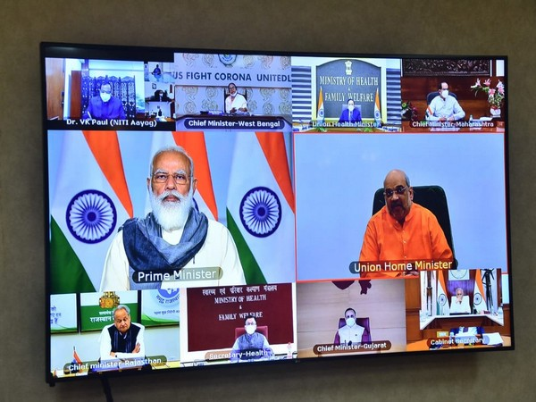 PM Modi's COVID-19 review meeting with chief ministers underway
