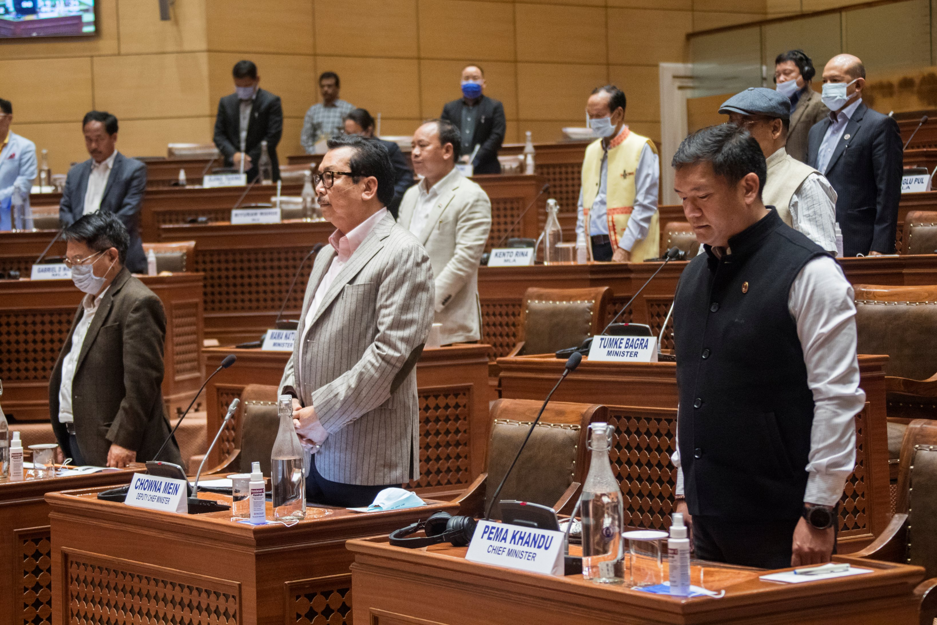 Arunachal Assembly pays tributes to former ministers Tsering Tashi & Khapriso Krong