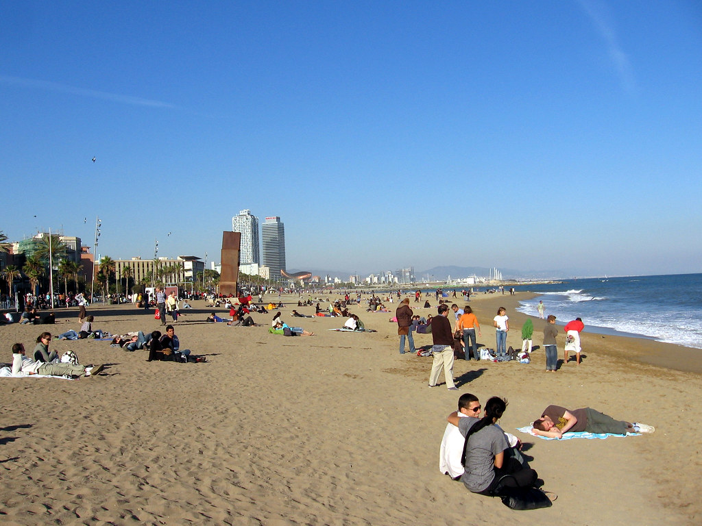 Barcelona helps disabled beachgoers frolic in waves