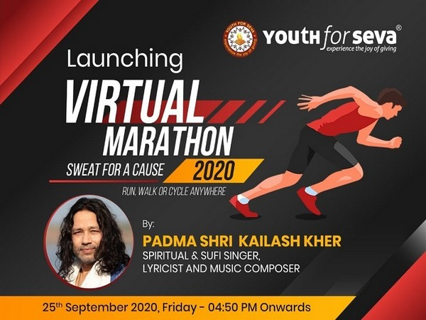 Youth for Seva Virtual Marathon launch with Padmashri Kailash Kher - Sweat for a Cause 2020 - Run, Walk or Cycle