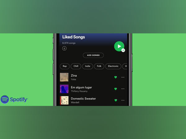 Spotify's feature 'Liked Songs' can help sort songs based on genre, mood