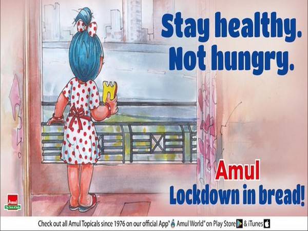 Amul's new doodle urges people to 'stay healthy not hungry' amid lockdown