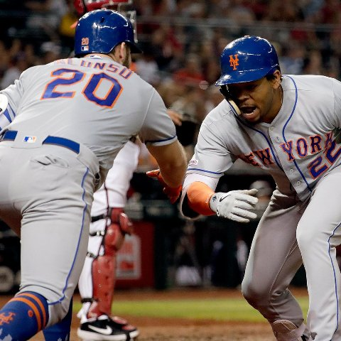 Frazier, McNeil homer twice as Mets blank D-backs 9-0