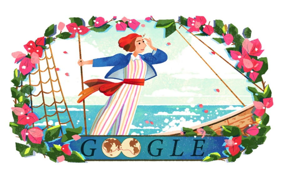 Jeanne Baret – Google doodle on 280th birthday of first woman who circumnavigated the globe