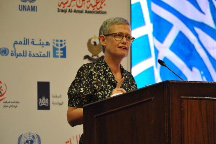 DSRSG Alice Walpole addresses forum to advancing women's rights in Iraq