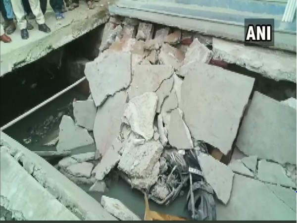 Rajasthan: Two persons injured after footpath built over a drain collapses in Sirohi