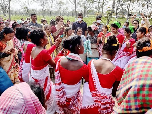Vote for progress, golden future of Assam: Priyanka Gandhi urges voters