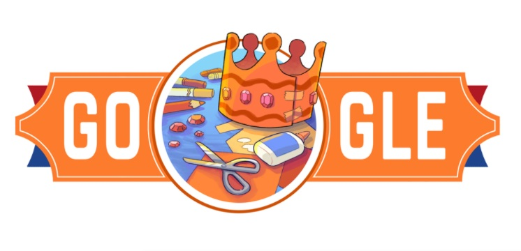 King's Day: Google Doodle on Koningsdag to honor the King's birthday