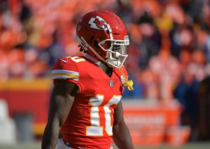 WR Hill a game-time decision for Chiefs