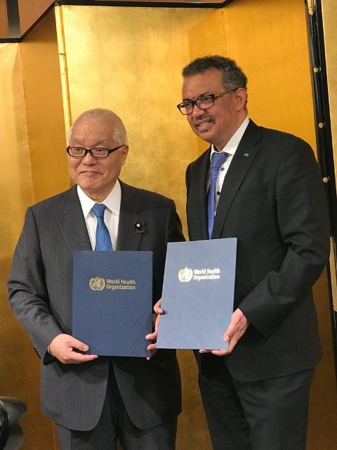Keizo Takemi appointed as WHO Goodwill Ambassador for Universal Health Coverage
