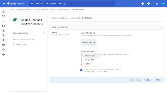 Workplace admins can now disable file sharing in Google Chat