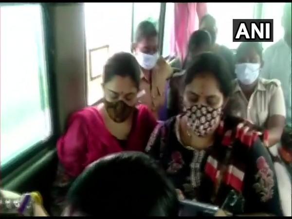 BJP's Khushbu Sundar detained on way to protest against VCK's Thirumavalavan