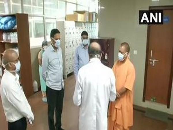 Adityanath visits SGPI's trauma centre to review arrangements for COVID-19 patients