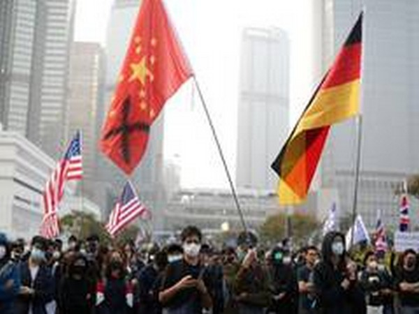 Riot police stop peaceful protest in Hong Kong against security law