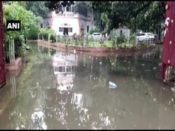 Rainwater enters Bihar road construction minister's residence in Patna