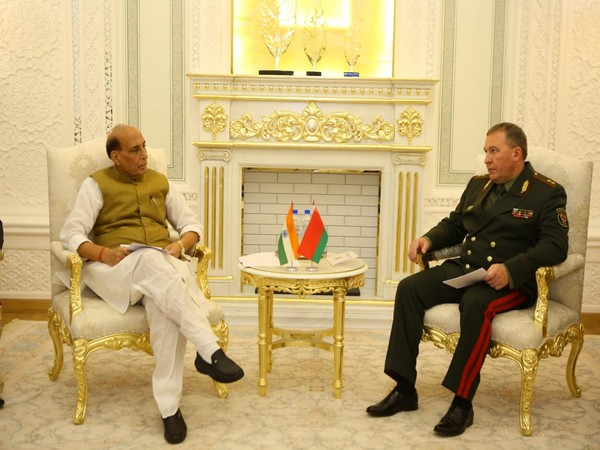 Rajnath Singh meets Belarusian counterpart on sidelines of SCO in Dushanbe