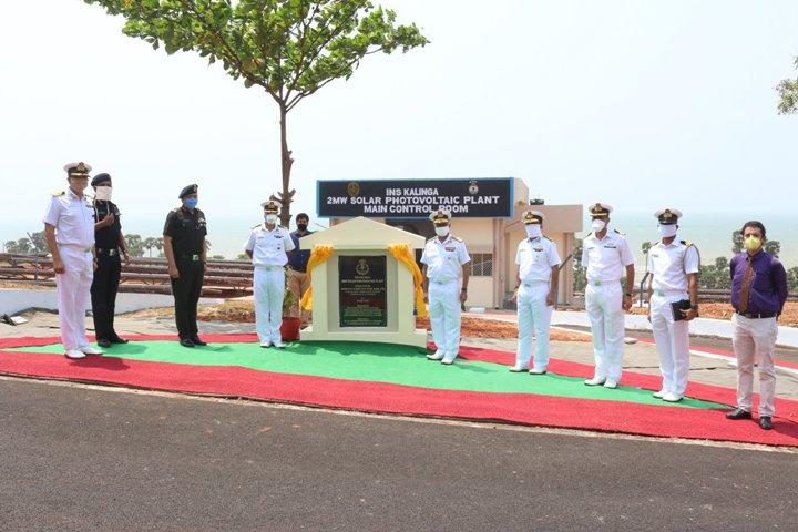 2 MW Solar PV plant commissioned at INS Kalinga