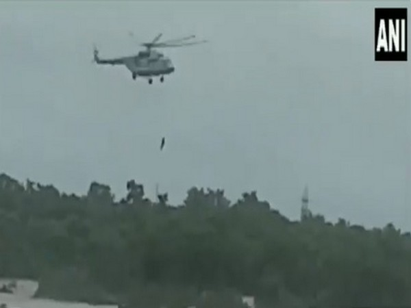 Helicopter reaches HP's Lahaul to rescue remaining 66 people stranded in Udaipur