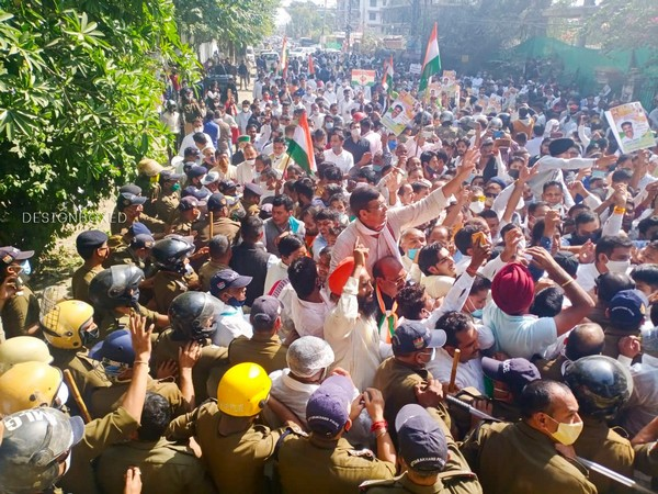 Congress protests in Dehradun, demands resignation from Trivendra Singh Rawat