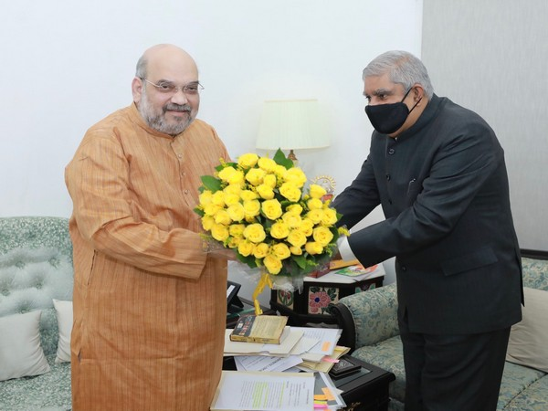 WB Governor Dhankhar calls on Union Home Minister Amit Shah