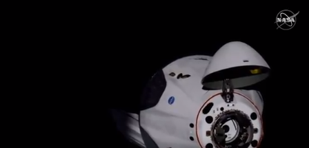 'Rise and shine, dad': NASA astronauts on overnight trip home in SpaceX capsule