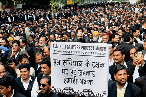 Lawyers stage protest against spate of killings in UP