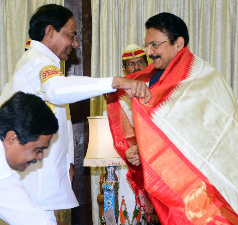 Siddipet Collector touches KCR's feet in Telangana; draws criticism from opposition